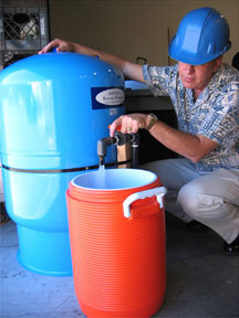 water filling station filter
